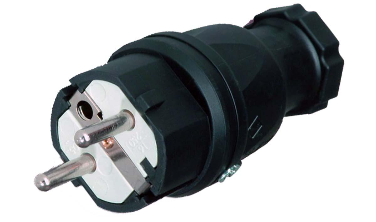 European rubber plug/-socket Robust IP44