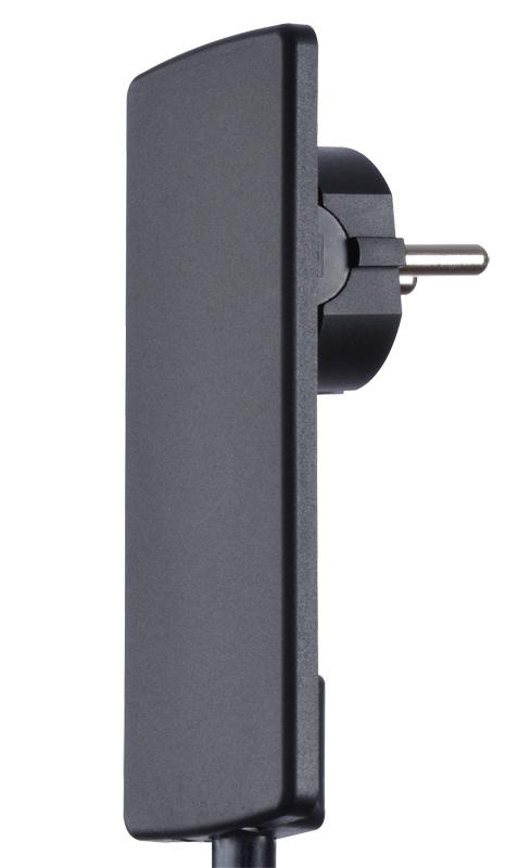 Extra flat european safety plug