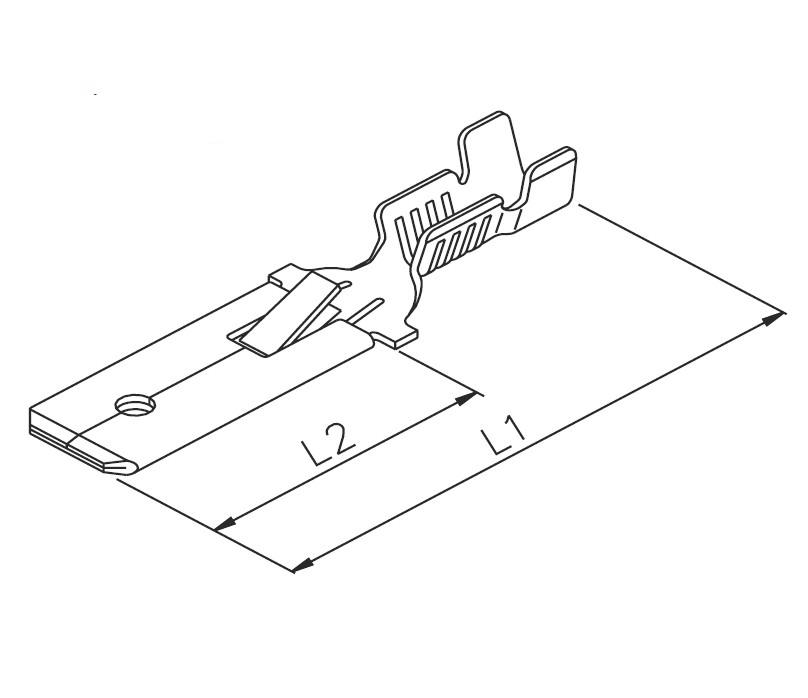 Flachstecker 6,3x0.8 m.R.