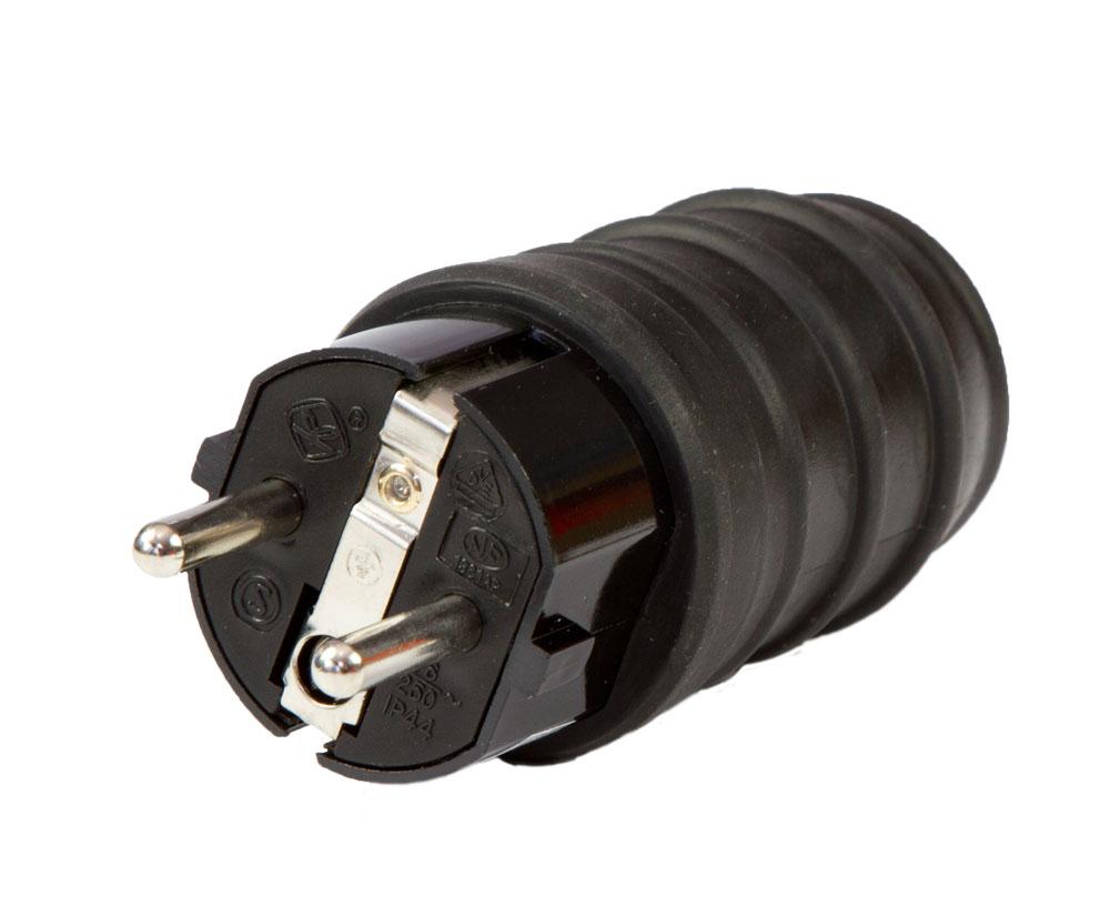 European rubber plug/-socket IP44
