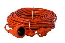 Verlängerung PVC in Sicherheitsfarbe