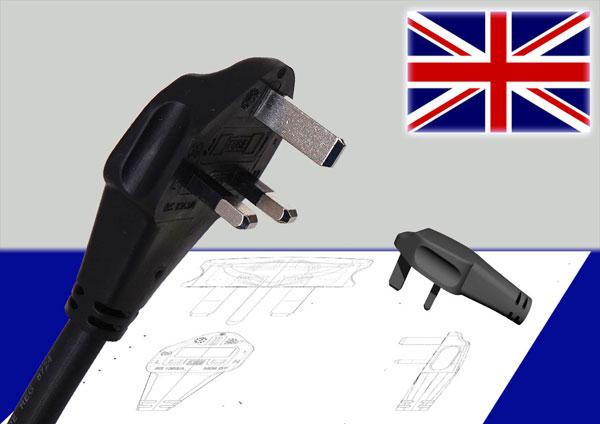 Winkelstecker flach UK
